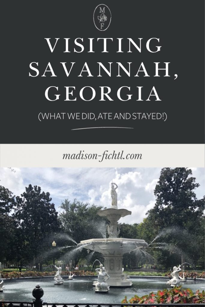 Travel Guide Savannah Georgia. What we did, ate and where we stayed!