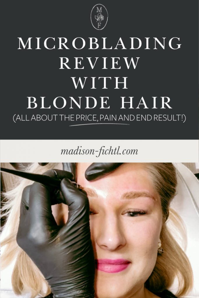 Microblading Review with Blonde Hair