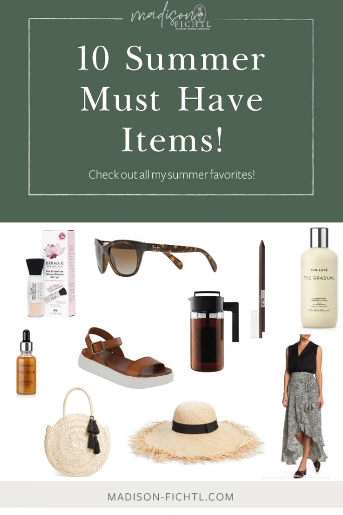10 Summer Must Have Items