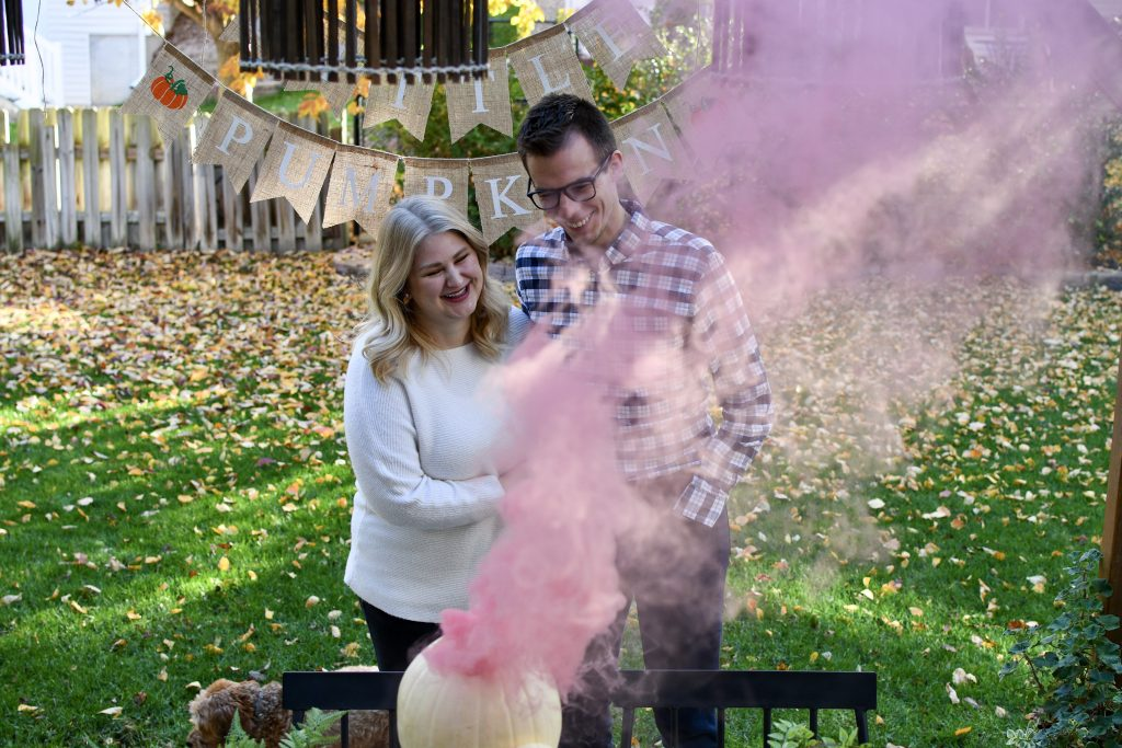 Fall Gender Reveal Pumpkin