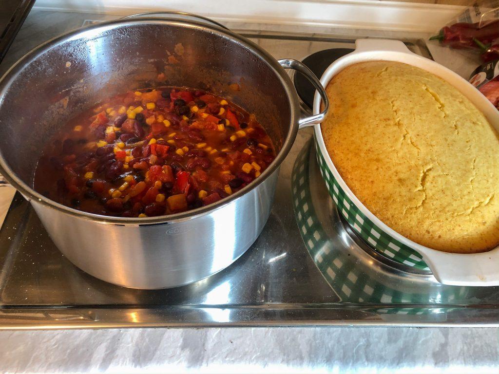 Super Easy Chili & Cornbread Recipe